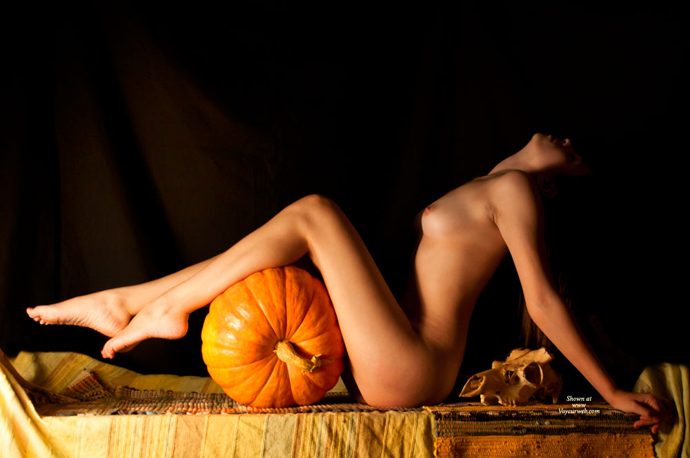 Nude Sexy Slim Girl With Pumpkin Profile - Long Legs, Small Tits, Nude Wife, Sexy Girl, Sexy Woman , Stretched Feet, Pumpkin Eater, Stretched Legs, Firm Titties, Sexy Tits, Trick Or Treat, Nude With Legs Resting On A Pumpkin, Long Firm Legs