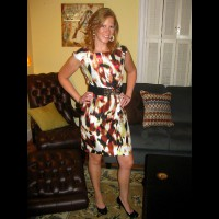 Dress And Heels , Headed Out To Happy Hour And Thought To Take These While Changing Out Of Daytime Clothes. Hope You Enjoy...