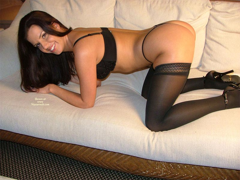 high heels Amateur stockings and