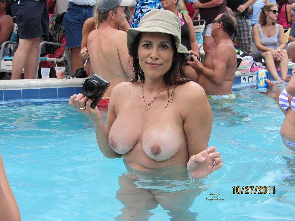 Big Tit Nude Pool Party
