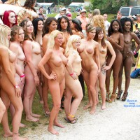 Same Naked Girls, Different Spot , Same Group Of Naked Girls, Just A Different Spot At Nudes A Poppin 2011. Yes, It Was Still Quite Overcast.