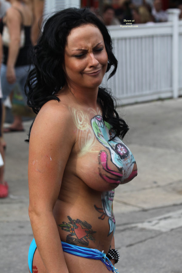 Big tits painted