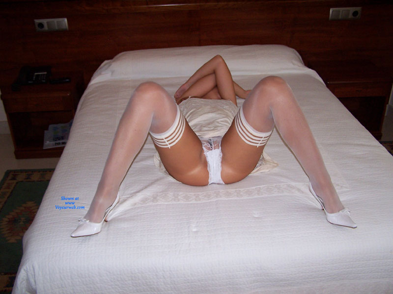 On Bed , Hi.  I Hope You Like White Lingerie And, Of Course, This Contri.  Kisses  ++++++++++++++++++++++++++++++++++++++++++++++  Hola  Espero Que Os Guste La Lencería Blanca Y, Por Supuesto, Esta Contribución  Besos