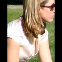 Nipple Oops - Sunglasses , Open Top Reveals Her Nipple, Sideblouse Nipple, Street Voyeur, Tit Oops, Loose Top, Nip Slip, Public Downblouse, Candid Nipple Shot