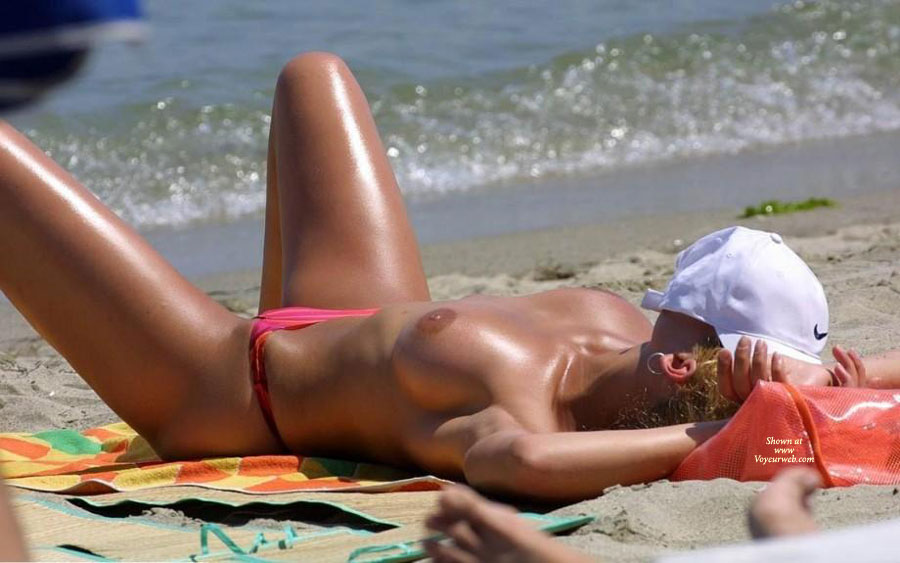 Topless MILF Asleep On Beach - Blonde Hair, Long Legs, Milf, Topless, Beach Voyeur, Sexy Legs , Curly Blonde Hair, Sun Tanning, Big Brown Areola, Pink Bikini Bottom, Bronzed Beauty, Medium Breasts, Topless On The Beach, Long Sexy Legs