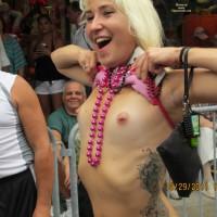 Flashing Her Pierced Nipples - Flashing, Pierced Nipples , Tits, Tats, Beads And Pierced Nips, Large Tattoo, Tit Flashing Hottie, Flashing Tits In Public, Voyeur Flasher, Festival Voyeur, Skinny Girl Flashing, Pink Erect Puffies