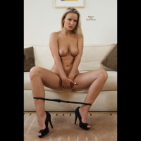Sitting Nude On A Couch - Blonde Hair, Heels, Topless, Naked Girl, Nude Amateur , Topless Nude Amateure, Hands Of Vagina, Black Panties, Evenly Tanned, Sexy Blonde, Nude Girl In Heels