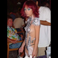 Bodypainted Tits At Fantasy Fest - Pierced Nipples, Small Tits, Topless , Big Erect Nipples, Topless With Body Paint In Public, Sexy Little Titties, Exotic Erotic, Small Tits With Body Paint, Pierced Nipples Painted, Asian Girl, Festival Voyeur, Petite Painted Lady