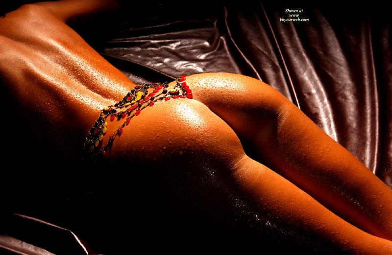 Golden Tan - Close Up , Golden Tan, String, Wet Ass, Bronzed Ass, Close Up, New Use For Necklace