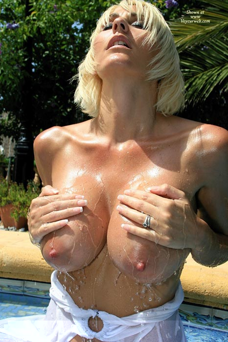 Wowser - Wet , Wowser, Playing With Big Boobs, Wet Tits, Swimming Pool, Slippery Nipples