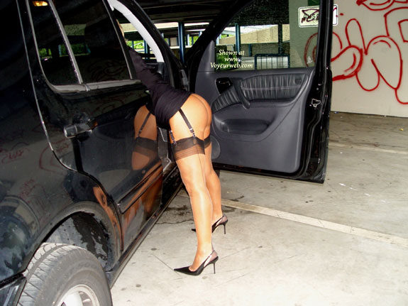 Black Dress Exposing - Heels, Nude Outdoors, Stockings , Black Dress Exposing, Hot Ass By Car Door, Black Heels And Garters, Pointy Toe Stilletos, High Heels And Stockings, Hiked Up Skirt, Exposed Ass In Public, Black Stockings, Showing Butt Outdoors, Ass Flashing - Stockings High Heels