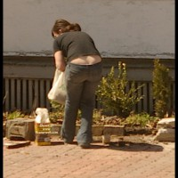 Gardening Ass , I Spotted A Cutie Gardening In Her Front Lawn And Maybe  Saw One Of The Best Examples Of Gardening Ass Ever!