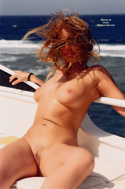 Hair Gone Wild - No Tan Lines, Shaved Pussy , Hair Gone Wild, Shaved Pussy, Wind Swept Hair, No Tan Lines, Boating, Yacht Club