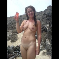 Nude Wife On Beach With Champage - Brown Hair, Shaved Pussy, Nude Wife , Shaved Beaver, Standing Smooth Nude Outdoors, Pointed Nipples, Medium Build, Lazy Sunday Afternoon, Drinking Pink Champagne In A Birthday Suit, Champagne On The Beach, Wet Hair