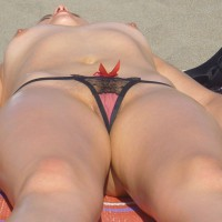 Wearing Panty While Sunbathing Topless - Landing Strip, Shaved Pussy, Topless , From The Bottom Up, Topless Girlfriend, Sunbathing Breast, Nude On Beach, Juicy Looking Twolly, Peekaboo Lips, Panty On Beach