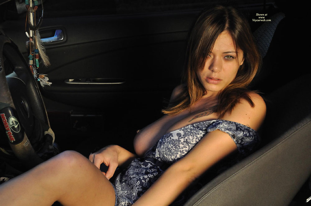Hot Chick Flashing Tits In Car - Brunette Hair, Flashing Tits, Flashing, Long Hair, Spread Legs, Sexy Face, Sexy Woman , Tatoo On Left Shoulder, Long Brunette Hair, Green Eyes, Legs Spread Wide, Pierced Nipple, Flashing In Her Car, Brunette Hair, Amateur Dressed Sexy