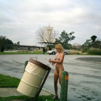 Standing Naked On Street - Blonde Hair, Small Tits, Naked Girl , Standing Naked On Street, Blonde Hair, Public Exhitionism, Naked, Small Tits