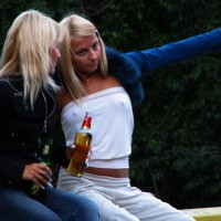 Poking Nipples Under Braless T-shirt - Hard Nipple , Pointies Under The Tee, Candid Pokies, Hard Nipples Under T-shirt, Poking Nipples Voyeur, Street Voyeur, Two Blondes, Candid Poking Nipples, Nipple Voyeur, Blonds, Tits And Beer