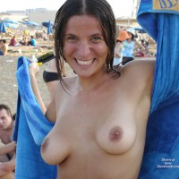 Topless At Beach - Brown Nipples, Flashing Tits, Natural Tits, Tan Lines , Topless At Beach, Topless With Towel, Brunette Flashing Tits, Wet Hair And Tan Lines, Nice Round Tits, Flashing At Beach, Beach Live, Natural Tits, Brown Nipples
