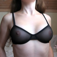 See Through Bra - Pale Skin , See Through Bra, See Thru Top, Black Bras, Pale Skin, Tits Close Up, C Thru Top, Firm Breasts