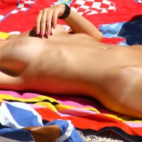 Beach Babe - Blonde Hair, Milf, Nude Beach, Perfect Tits, Shaved Pussy, Tan Lines, Bald Pussy, Beach Voyeur, Naked Girl , Pouty Lips, Nude Tanning, Sunburned Twolly, Solar Power, Excellent Nipples & Aureolas, Nude Lying Back On Beach Blanket, Bright Pink Painted Fingernails, Beautiful Blonde