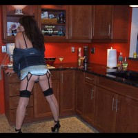 Brunette In Kitchen Wearing Black Seamed Stockings - Brunette Hair, Heels, Stockings, Naked Girl, Nude Amateur , Legs And Ass, Black Thigh Highs, Stockings And Heels, Black & White Polka Dot Chemise, Bustier With Garter Belt, Garter Belt Black, Seamed Stockings Leading To Black Stilletos, Denim Jacket Off The Shoulders, In The Kitchen, Black Ankle Strap Spike Heels, Black Stilettos, Black High Heels With Ankle Straps, Nude Rht Back-seamed Contrast Top Stockings