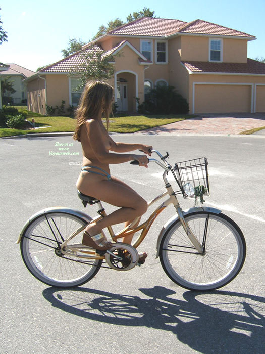 Topless Bicycle - Brown Hair, Long Hair, Topless, Naked Girl, Nude Amateur , Blue Panties, Peddling One Piece Swimsuit, Riding Bike, Blue Thong, Bikini Thong, Mostly Nude Cycling, Lucky Bicycle Seat, Riding Bike Topless, Topless On Bicycle, Blue Panties And Gold Shoes