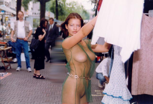 Big boobs naked in public