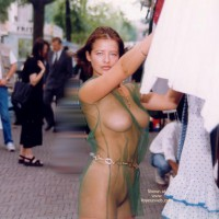 Naked In Public - Large Breasts, Nude In Public , Naked In Public, Seethough Dress, Green See Trough, Fully Eip, Large Breasts, Seethrough Clothing, Big Tits In Public