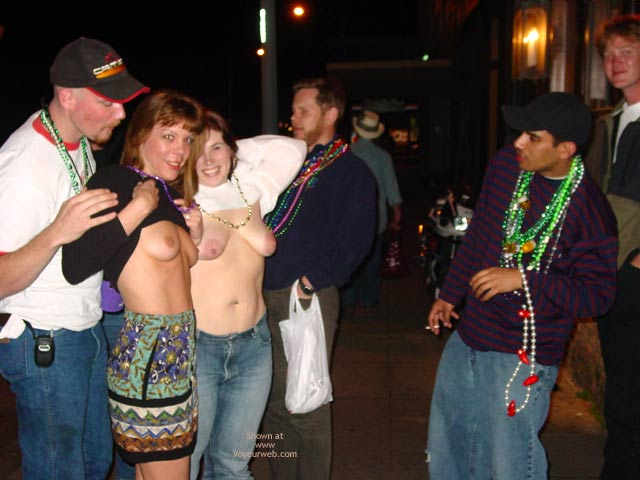 Pic #1 Making New Friends At Mardi Gras!