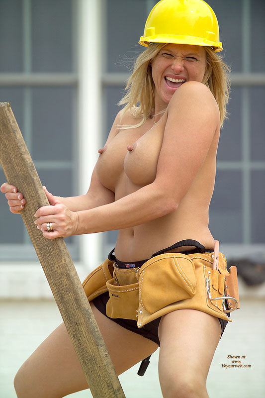 Blonde Outdoors - Blonde Hair, Nipples , Blonde Outdoors, Rebuilding America, Tool Belt, Fun Pic, Construction Nipples, Lady Contractor, Erect Nipples On Construction Site, Hard Nipples In Hard Hat, Board Blonde, Toolbelt Boobs