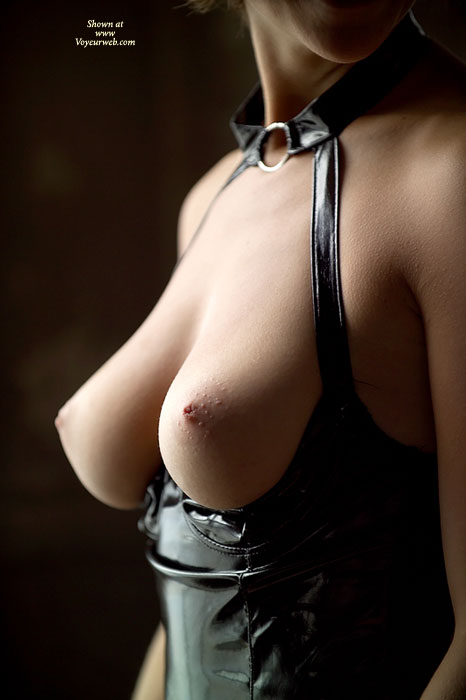 Tits On Display - Topless , Top Down Showing Tits, Very Sexy Tits, Pvc Playsuit, S & M Boobs, Quarter Cup Playsuit, Black Pvc Topless Suit, Torpedo Tits, Pointy Breasts, Beautiful Tits, Sexy, Erotic Breasts