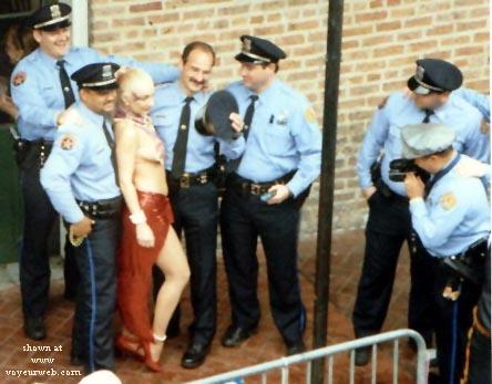 Pic #1 Cops love Mardi Gras too!!