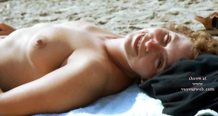 Pic #1 Rosie - Topless On The Beach