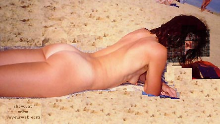 Pic #1 Anaelle Erect on The Beach