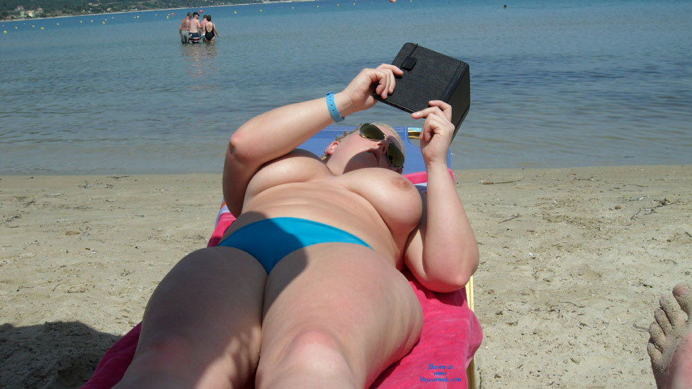 Beach Voyeur:Blonde On The Beach , Saw This Blonde With Fantastic Tits On The Beach In Zante Last Summer