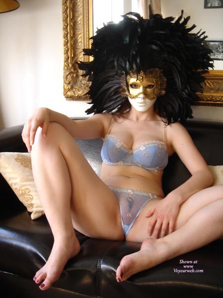See Through Panties - See Through Panties, Spread Legs, Sexy Lingerie , See Through Panties, Spread Legs, Lingerie, Mask On Face, Feathers