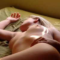 Naked On Bed - Blonde Hair, Naked In Bed , Naked On Bed, Young Nude, Medium Boobs, Bare-breasted Blonde, Blond Hair, Lying On Bed