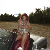 Topless Girl: *MFF Lady E Seducing A Biker Outdoors - Topless Amateurs