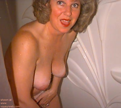 """Pic #1 """"Joyce      - Surprised and wet."""""""