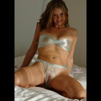 Home-made Plastic Bra - Large Aerolas, Shaved Pussy, Hot Wife, Sexy Legs , Cling Film Bikini, Home-made Plastic G-string, Wrapped Up Tits, See Through Wrapping Paper, Unwrap Your Present, Transparent Bikini Fashioned Out Of Cellophane Wrap, Wrapped And Ready To Unwrap