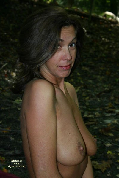 Camping Boobs - Dark Hair, Nude Outdoors, Standing , Camping Boobs, Outdoors, Looking Into Cam, Dark Hair, Standing