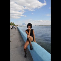 Pantieless Girl: Walk Along The Promenade , Walked And Photographed With A Perfect Stranger