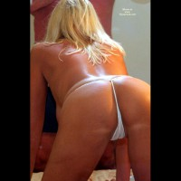 Camel Toe - Camel Toe, Rear View, Sexy Ass , Camel Toe, White G-string, Ass Shot, Blonde Hair Ass, White G String, Tanned Ass, Rear View