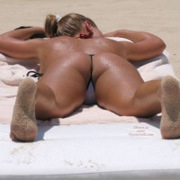 String Bikini - G String , String Bikini, Sandy Feet, Covered In Sand, Ass On Beach, Thong On Beach, G-string, G String
