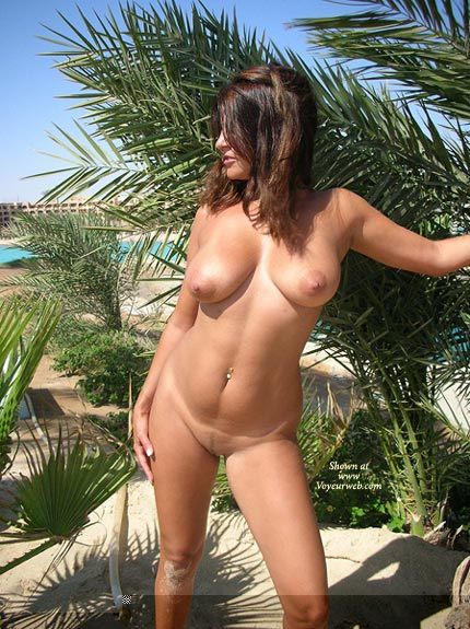 Naked At The Beach - Big Tits, Exposed In Public, Full Nude, Hairy Pussy, Standing , Naked At The Beach, Just Getting A Tan, Hairy Pussy, Fully Naked, Standing, Big Boobs