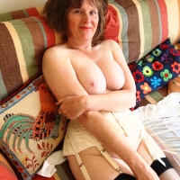 White Corset Set - Big Tits, Brunette, Men, Shaved, Toys