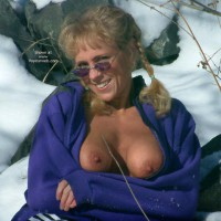 Sunglasses - Erect Nipples, Flashing Tits, Sunglasses , Sunglasses, Flashing Tits, Erected Nipples, Mature Tits, Winter Shot