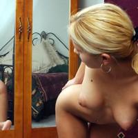 Puffy Nips - Big Areolas, Hanging Tits, Reflection , Puffy Nips, Booty Reflection, Mirror Play, Big Areolas, Hanging Tits, Scrunchy Hair Clip, Pony Tail, Hoop Earings