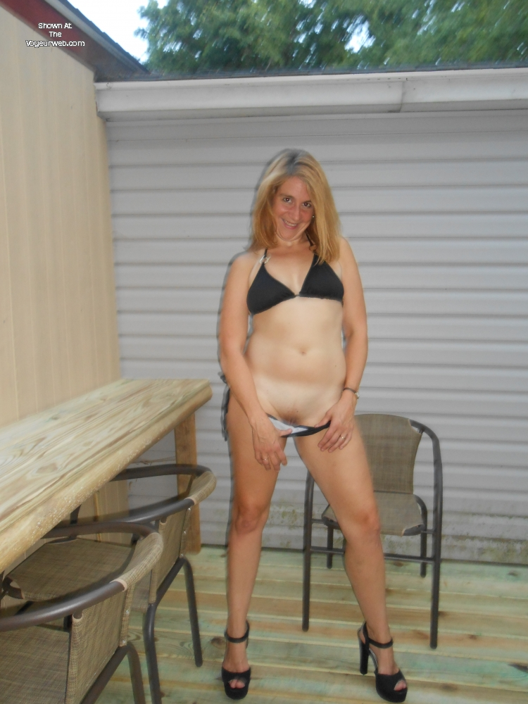 New Bikini , I Took Pics Of My Hot Wife With Her New String Bikini And Highheels. Hope You Enjoy. She Loves Sharing Her Pics.
